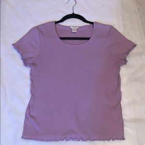 Christopher & Banks Ribbed Purple Tee Size X-Large